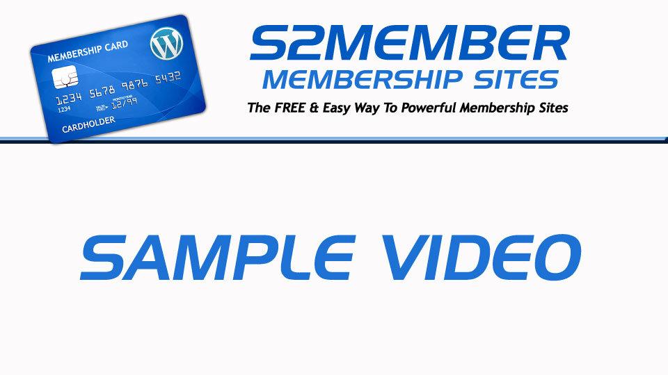 EZWP Membership Sample Video Splash Image