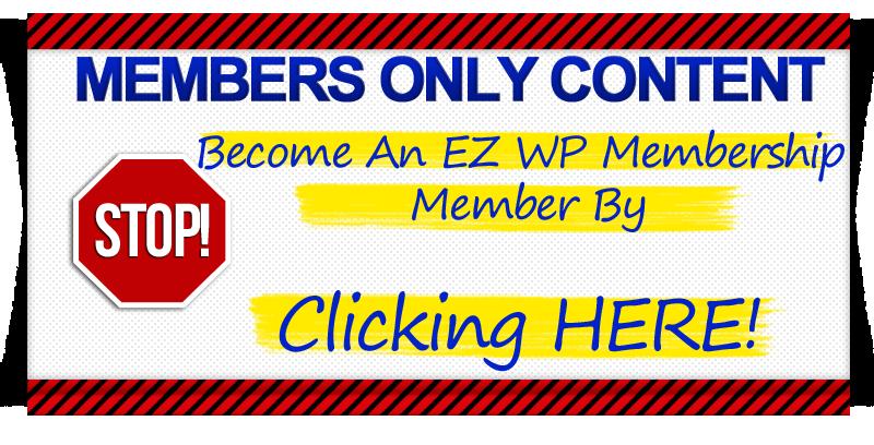 EZ WP Membership Members Only image