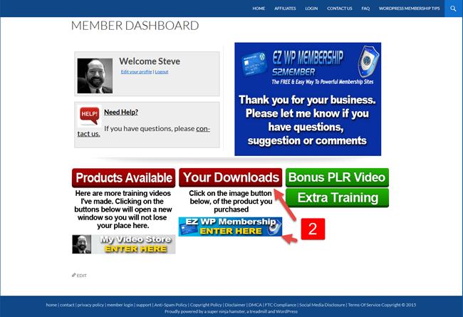 EZ WP Membership Members step2