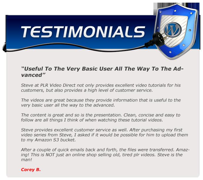 EZWP Membership testimonial Corey B