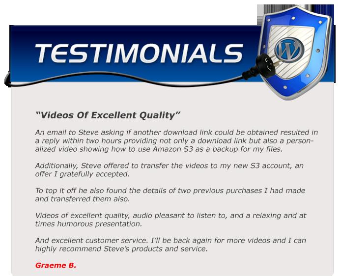 EZWP Membership testimonial Graeme B